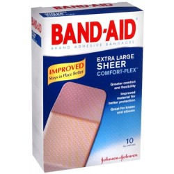 Band Aid Assorted Size Sheer Comfort Flex