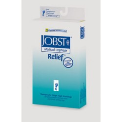 Jobst Relief Garter Style Thigh High (No grip top) Compression Stockings CLOSED TOE 20-30 mmHg