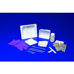 Standard Trach Care Tray With Sterile Saline