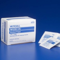 WEBCOL Alcohol Prep, 1-Ply, Large (200 count) REPLACED BY 55MWAPL Large - 5033