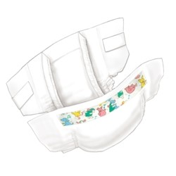 Curity Tab Closure Baby Diaper Size 4 - 80038A