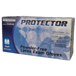Protector Textured Fingertips Latex Exam Gloves - Powder Free X-Large - 14-010-L