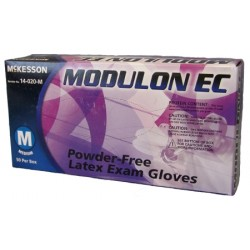 Modulon EC Textured Fingertips Latex Exam Gloves - Powder Free X-Large - 14-020-L
