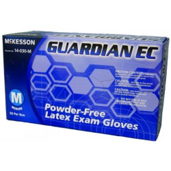 Guardian EC Textured Fingertips Latex Exam Gloves - Powder Free X-Large - 14-030-L