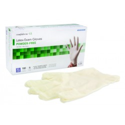 Confiderm Textured Fingertips Latex Exam Gloves - Powder Free X-Large - 14-422