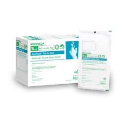 Perry Performance Plus AquaTouch Smooth Latex Surgical Gloves - Powder Free, Sterile Size 9 - 20-1255