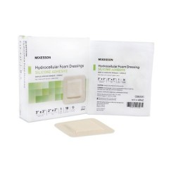 Adhesive Foam Dressing Silicone Adhesive 3 x 3 Inch - Sterile