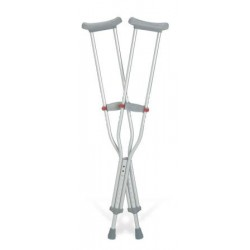 """Guardian Red Dot Tall Adult Push-button Auxiliary Crutches 52"""" - 60"""" 52 to 60 Inch - G90-214-8"""