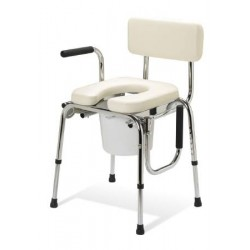 Padded Drop Arm Commode 350 lbs. 20 to 25 Inch - G98204