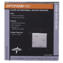 Optifoam Antimicrobial AG Silver Adhesive Dressing