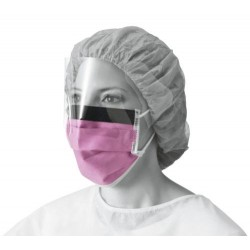 Fluid-Resistant Surgical Face Mask with Eyeshield