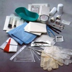 Debridement Kit with Scissors, Scalpel and Gloves