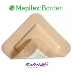 "Mepilex Border Flex 6"" x 7.5"" Self-Adherent Absorbent Bordered Foam Dressing 5.9 X 7.4 Inch - 283400"