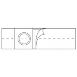 "Nu-Support Flat Panel Belt 2-3/8"" Opening 4"" Wide 32"" - 35"" Waist Medium Medium, Adult - 2661"