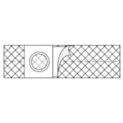 """Nu-Support Flat Panel Belt 2-3/8"""" Opening 4"""" Wide 41"""" - 46"""" Waist X-Large X-Large, Adult - 2668"""