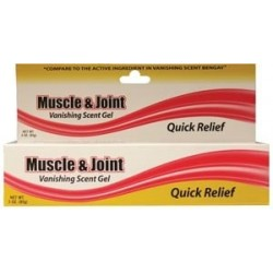 Muscle and Joint Gel, 3 oz., 2-1/2% Menthol - MJG3