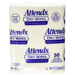 Attends Dry Wipes - Unscented