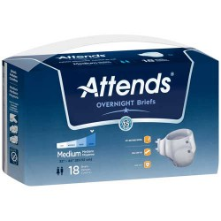 Attends Overnight Breathable Briefs Super Absorbency