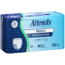 Attends Briefs with Waistband Heavy Absorbency