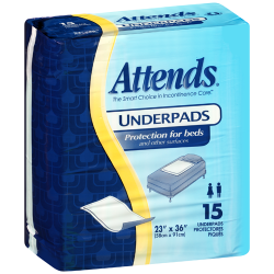Attends Retail Underpads Light Absorbency