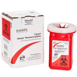 1 Quart Red Sharps Container Mail Back Sharps Disposal System 10100-012