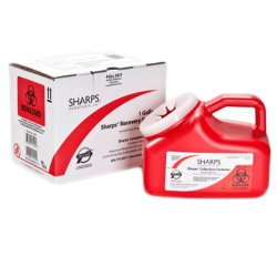 1 Gallon Red Sharps Container Mail Back Sharps Disposal System 11000-018