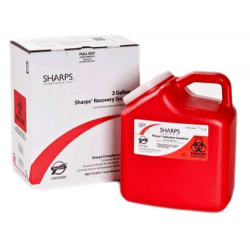 2 Gallon Red Sharps Container Mail Back Sharps Disposal System 12000-012