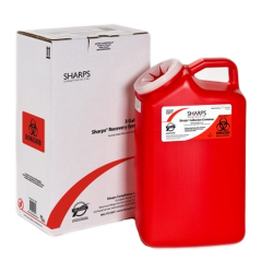 3 Gallon Red Sharps Container Mail Back Sharps Disposal System 13000-008