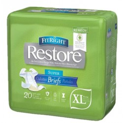 FitRight Restore Briefs w/Remedy Skin Repair Cream - Heavy Absorbency