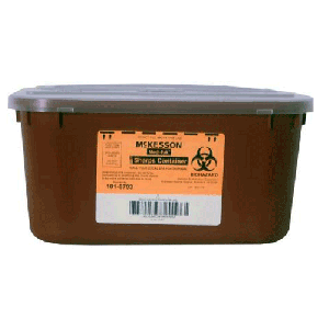 1 Gallon Red Medi-Pak Sharps Disposal with Horizontal Entry Lid 101-8703