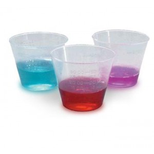 1 oz Plastic Calibrated Medicine Cups in Ounces and Mil